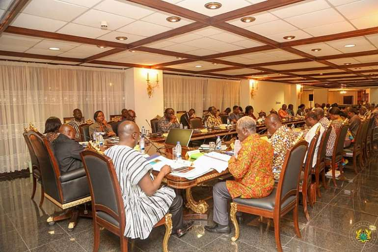 Photo: A government retreat at Peduase Lodge where the president met his ministers