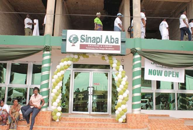 Figure 2: The front view of the financial institution, Sinapi Aba Savings and Loans.