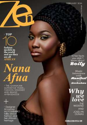 Nana Afua Antwi, 1st Ghanaian Model To Win Britain's Top Model Of Colour