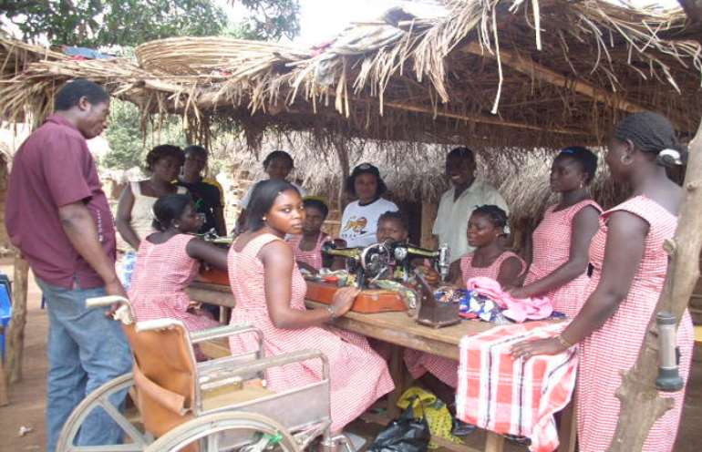 Girls withdrawn from child labour and provided with vocational training opporutnities