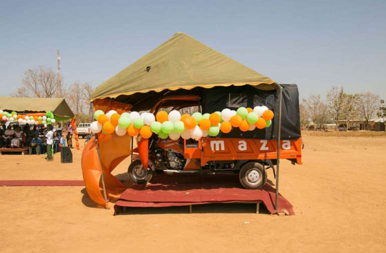 *One of the 13 tricycle ambulance at the launch.