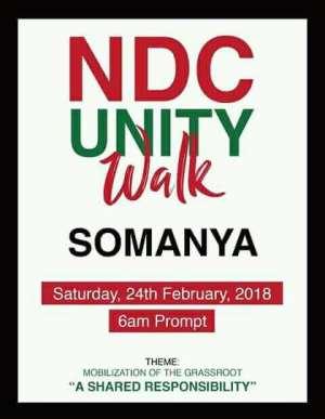 Somanya to host next NDC's 'Unity Walk'