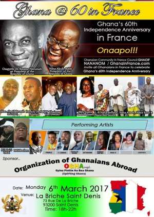 Ghana @ 60 Independence Day Celebration In France