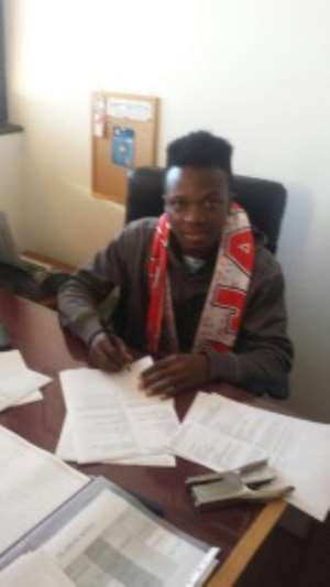 Promising Ghanaian winger Jonas Asare signs for top European agent Ivo Chi
