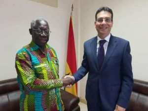 New Egyptian Ambassador Pays Courtesy Call On Senior Minister