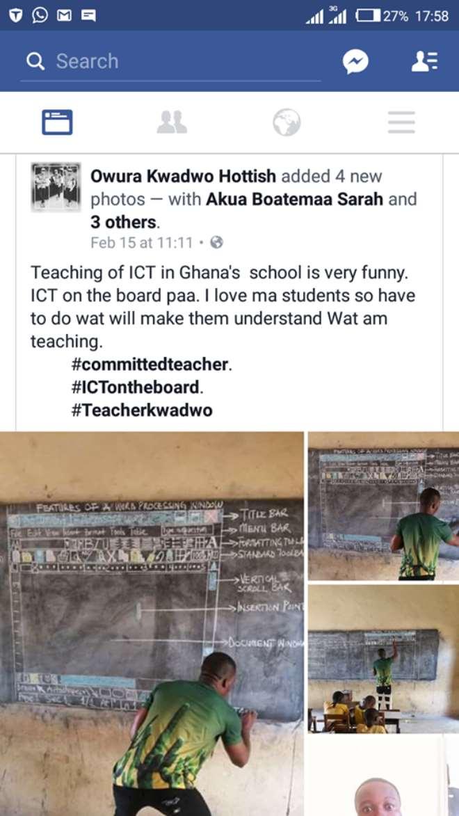 Teacher Kwadwo's Facebook post
