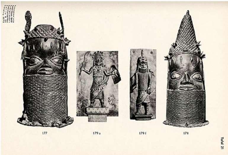 Benin head with panel from Lepke's catalogue