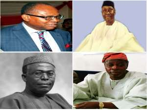 From top: (L- R) Prof. Anya. O. Anya, Dr. Nnamdi Azikiwe, Chief Olu Falae & Chief Obafemi Awolowo