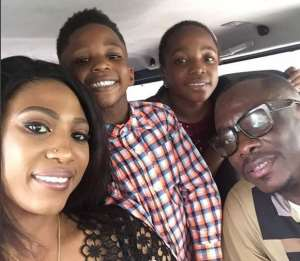 Comedian, Julius Agwu Steps out with Happy Family