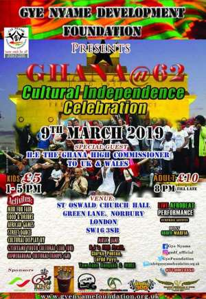 Ghanaians In The UK To Hold Cultural Independence Celebrations On 9th March