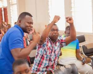 Supporters of Bolga Girls' SHS celebrated their qualification