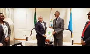 Dr Ahmad Ahmad Visits Rwanda President