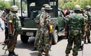 Soldiers Tackle Stubborn Drivers At Sofoline