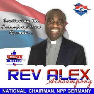 Rev. Alex Achaempong Retained As NPP Germany Chairman