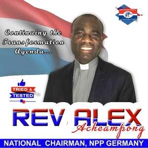 Rev. Alex Achaempong Retained As NPP Germany Chairman