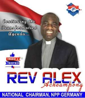 Reojoinder: NPP Germany Elects Rev Alex Acheampong As Chairman