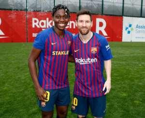 Nigeria's Asisat Oshoala Finally Meets Idol Lionel Messi