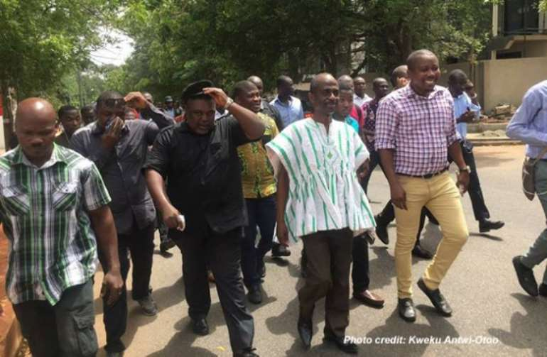 Ghanaians Protest in Accra Against Military Agreement With US