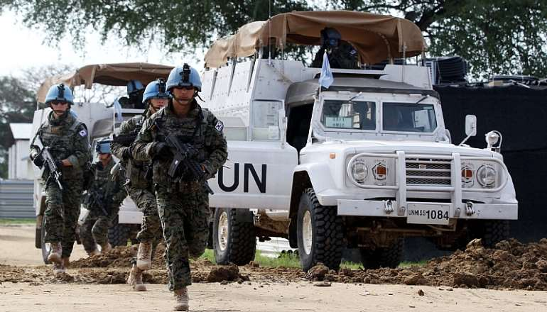 Members of the South Korean peacekeeping unit at their base in the city of Bor, Jonglei State, South Sudan in July 2015 - Source: EPA/YONHAP