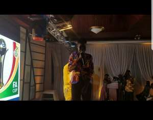 16 year old Musician Dhat Gyal Headlines MTN FA Cup Awards (Video)