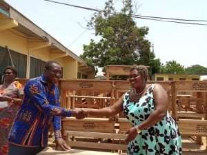 Afenyo Markin Donates 500 Dual Desks To GES