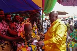 Sankore Chief Praises Akufo-Addo For Visiting By Land, Not By Air