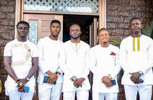Image result for photo of stonebwoy at the naming ceremony of his son