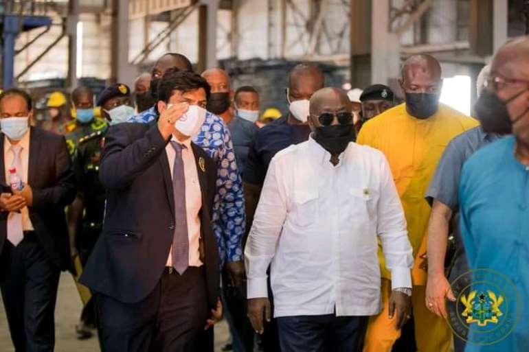 H.E Nana Addo Dankwa Akufo-Addo[in white]