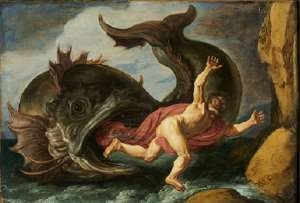 Jonah brought onto the shores of Nineveh by the whale