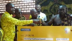 MTN Gives To Kwahu Traditional Council Ahead Of Easter