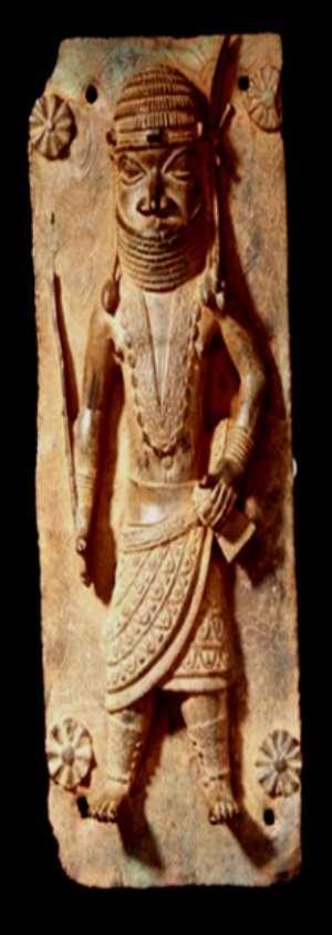 Relief, Benin, Nigeria, now in Volkenkunde Museum, Leiden, Netherlands.