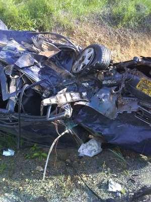 7 Perish in Gory Accident on Tarkwa- Bogoso Road.