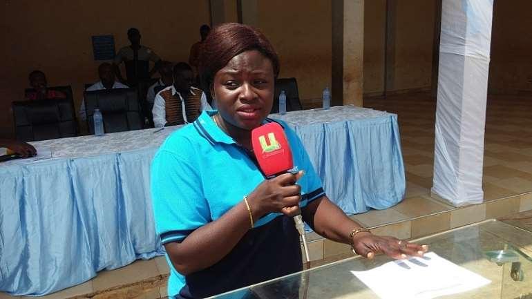 Municipal Director of Social Welfare and Community Development giving her keynote address