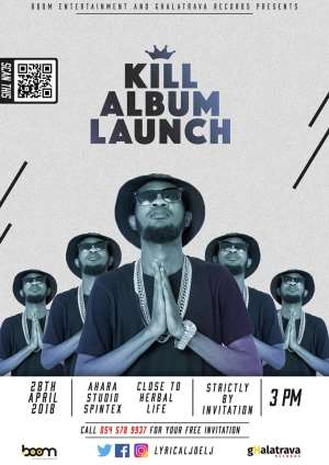 Lyrical Joe LJ to Unveil his Debut Album, KILL (King In LimeLight) on April 28.