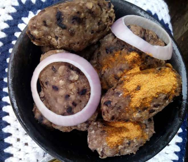 Locally prepared dish from beans and pepper