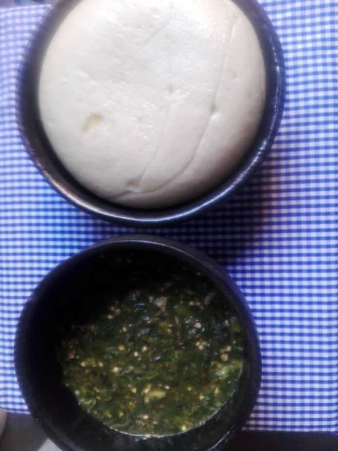 Locally prepared TZ with early millet flour and okro soap