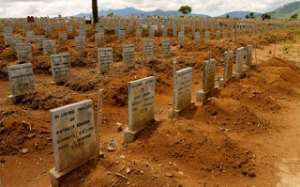 Victims of Ebola laid to rest at Waterloo cemetery in Freetown, Sierra Leone