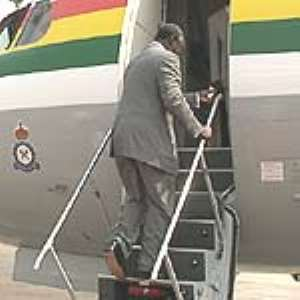 President Kufuor on official visit to Britain.