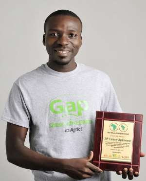 Kwame Ababio With His Award