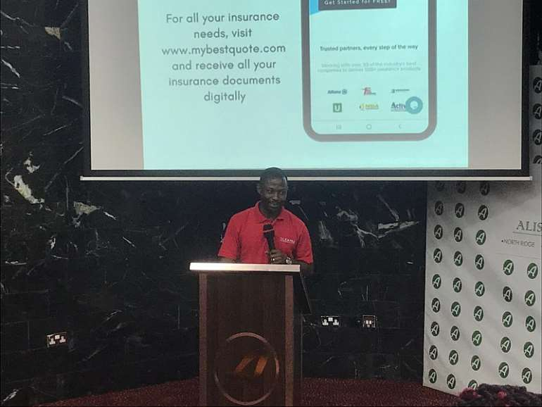 Stephen Kwarteng Yeboah speaking at the launch