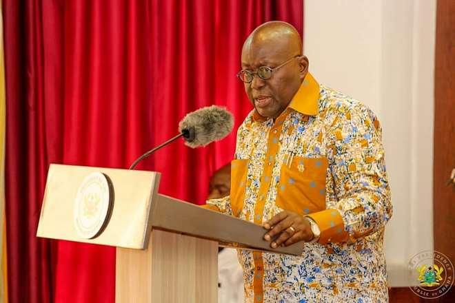 President of Ghana in his beautiful Africa wear