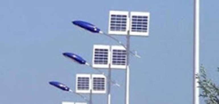 Solar Powered street lights