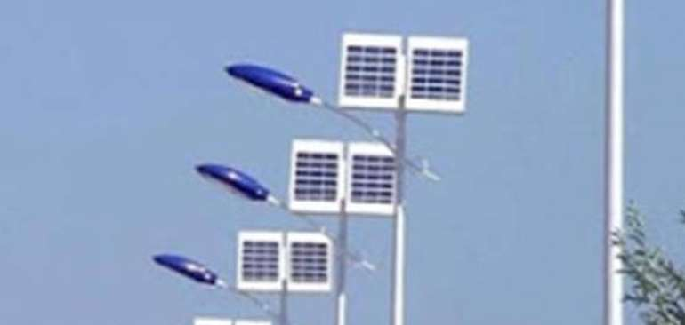 Solar Powered street lights