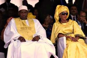 Adama Barrow and his wife Fatoumata-Bah-Barrow