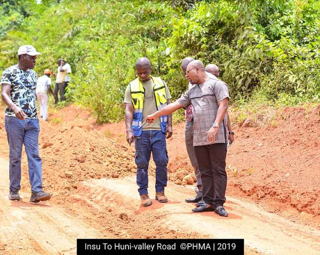 MCE inspecting the road