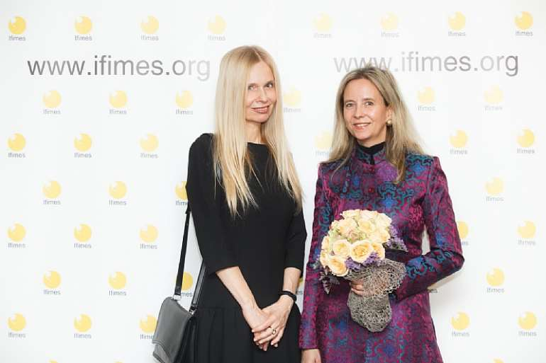Sofi B. and Director Camilla of IFIMES – soft power of subtle diplomacy