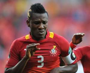 Captain Asamoah Gyan hits his 50th mark goal for the Black Stars