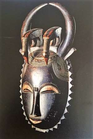 Kuakudili mask, Yaure Region, Côte d'Ivoire ,now in Musée Barbier- Mueller, Geneva, Switzerland.