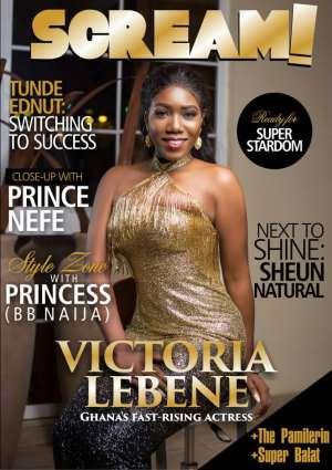Victoria Lebene covers Scream Magazine latest issue