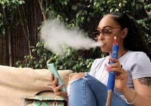 Actress and Mentor, Rosaline Meurer proudly Smokes in public